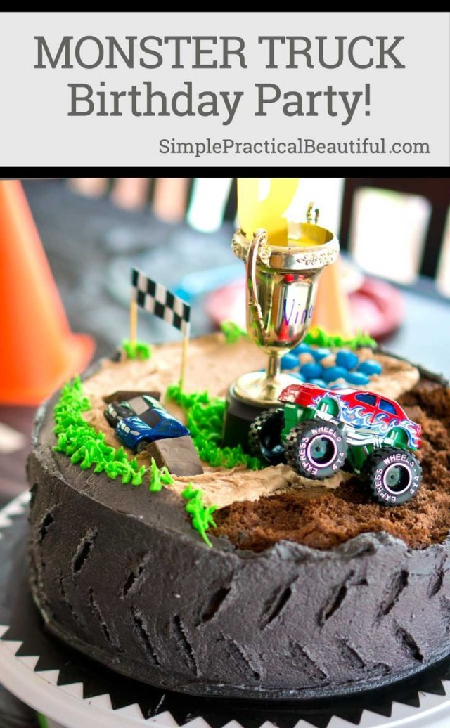 Monster Truck Birthday Cakes Monster Truck Birthday Party Diys Crafts Recipes Pinterest