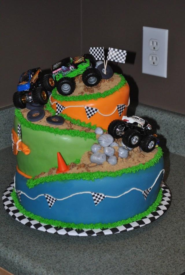Monster Truck Birthday Cakes Monster Truck Cake Birthday Cakes Pinterest Monster Truck