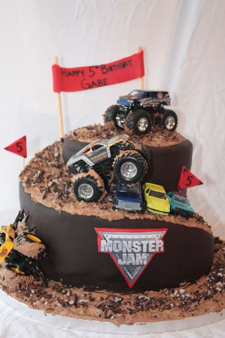 25+ Beautiful Picture of Monster Truck Birthday Cakes