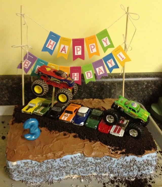 Monster Truck Birthday Cakes Whimsikel Monster Truck Birthday Cake