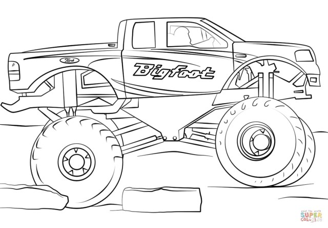 Monster Truck Coloring Page Remarkable Free Monster Truck Coloring Pages To Print Max D Page
