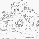 Monster Truck Coloring Pages Drawing Of Monster Truck Monster Truck Coloring Pages Printable New
