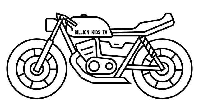 Motorcycle Coloring Pages How To Draw Motorcycle Coloring Page Youtube