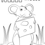 Mouse Coloring Page M Is For Mouse Coloring Page Free Printable Coloring Pages