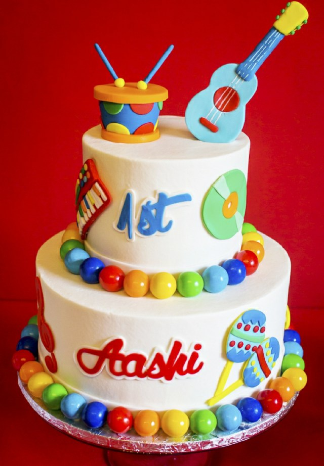 Music Birthday Cakes Ba Jam Music Inspired 1st Birthday Party Party Ideas Party