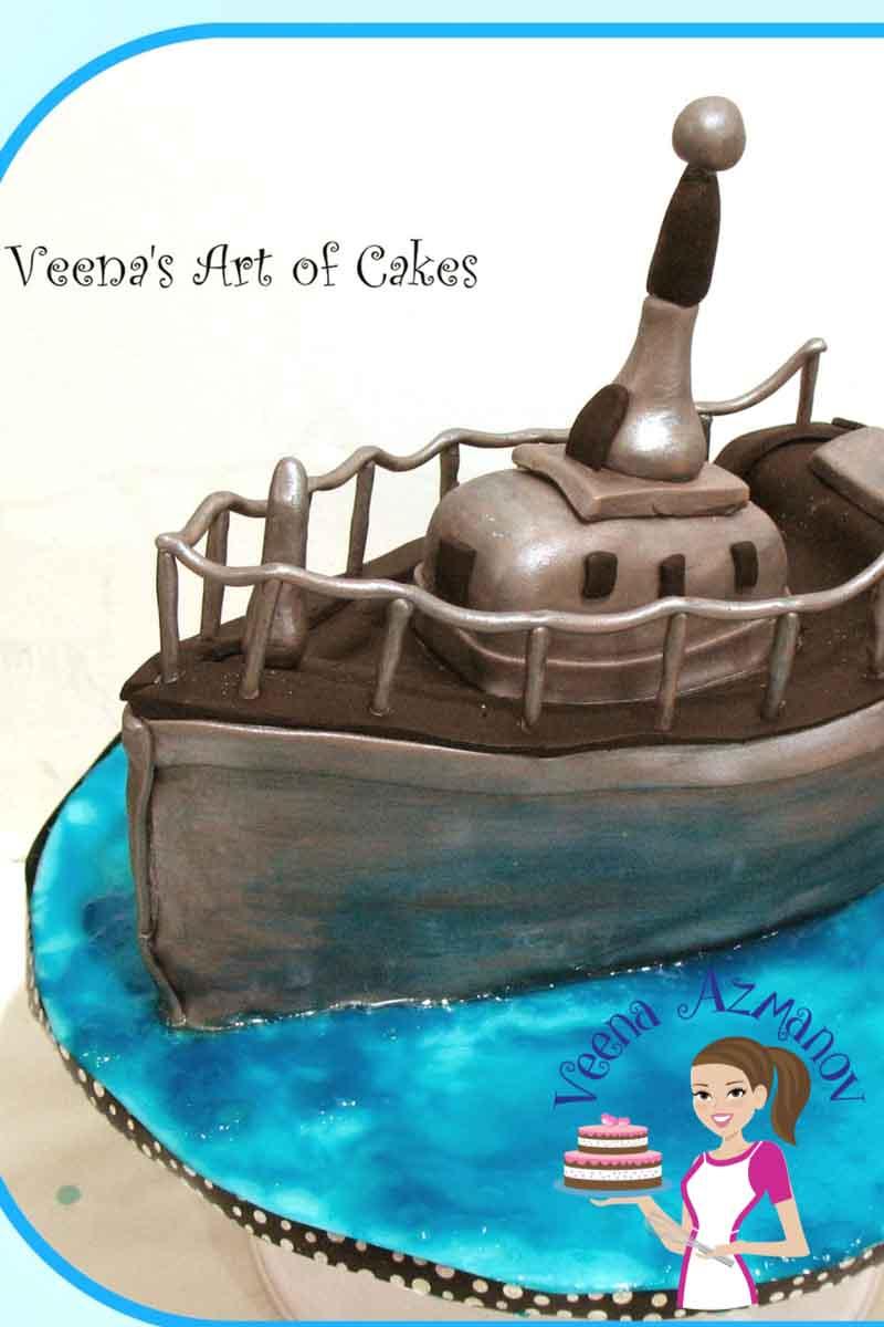 Navy Birthday Cake Navy Boat Cake For A Navy Birthday Boy Veena Azmanov