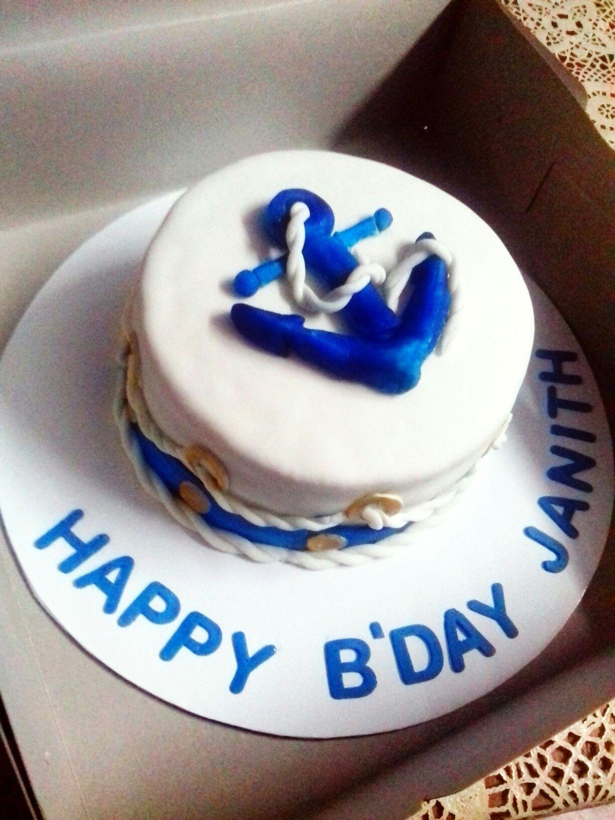 Navy Birthday Cake Navy Themed Birthday Cake Cake In 2018 Pinterest