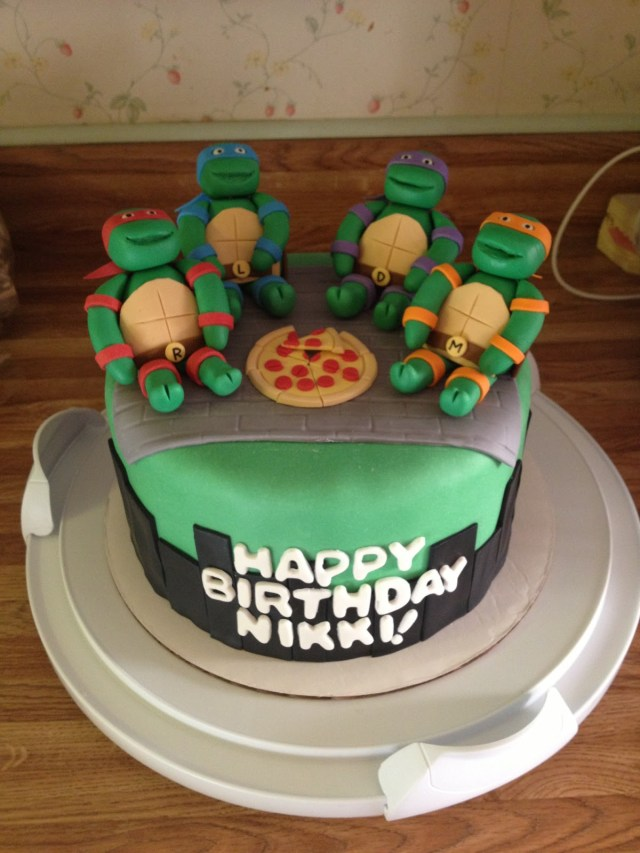 Ninja Turtles Birthday Cake Bay Cakes Ninja Turtle Birthday Cake