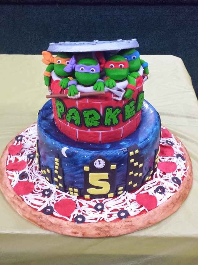 Ninja Turtles Birthday Cake Js Cakes Teenage Mutant Ninja Turtles Birthday Cake