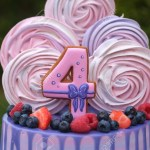 Number Birthday Cakes Beautiful Birthday Cake With The Number Four Fresh Berries And