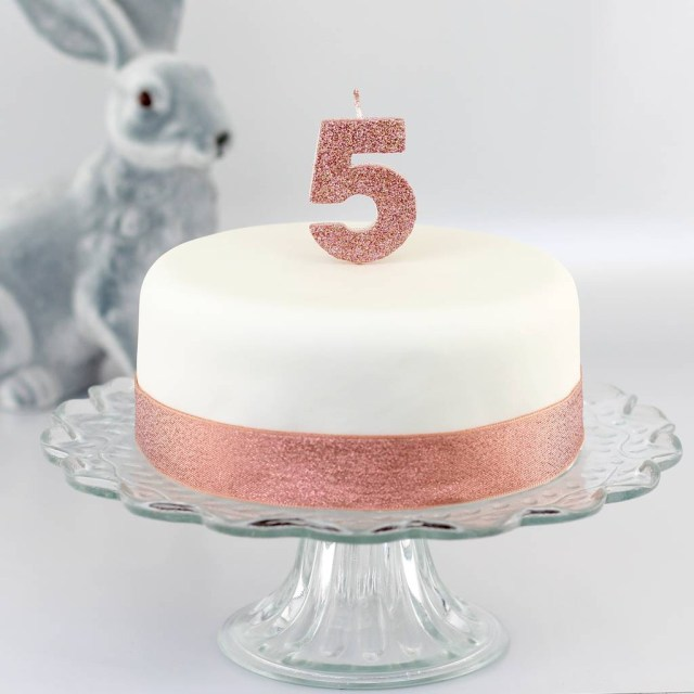 Number Birthday Cakes Handmade Glitter Number Birthday Candle Clever Little Cake Kits