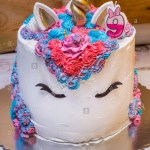 Number Birthday Cakes Unicorn Birthday Cake For Little Girls Decorated With Colorful