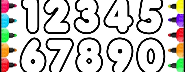 Numbers Coloring Pages 123 Numbers Coloring Pages How To Draw Numbers 0 To 9 And Coloring