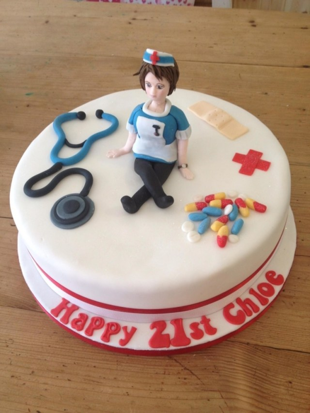 Nurse Birthday Cake 21st Birthday Cake For A Nurse Image Inspiration Of Cake And