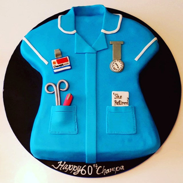 Nurse Birthday Cake 60th Nurse Themed Birthday Cake Cakes Gallery 2 Chefs Passion