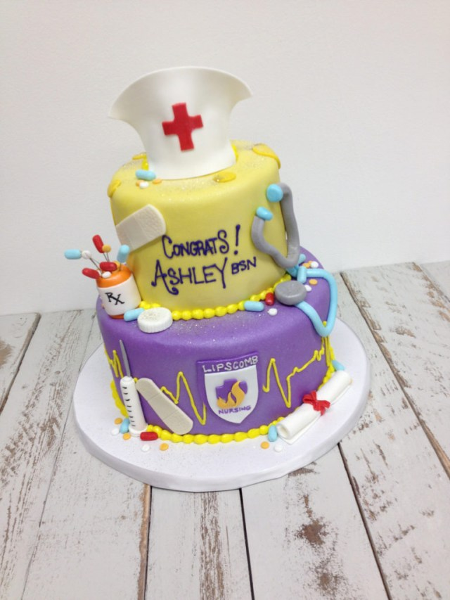 Nurse Birthday Cake Nashville Sweets Nurse Graduation Cake