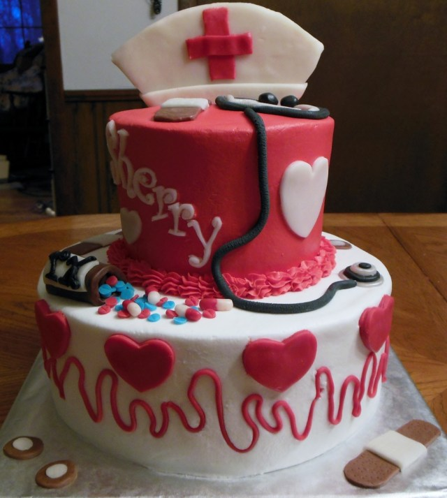 Nurse Birthday Cake Nurse Birthday Cake For Sherrys 50th Cakecentral