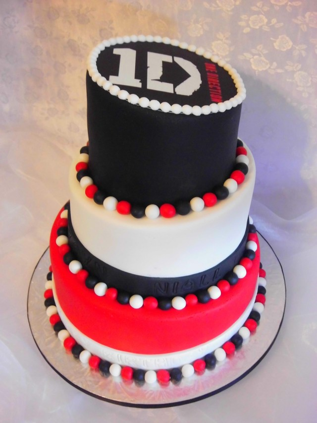 One Direction Birthday Cake One Direction Topsy Turvy Cake Cakecentral