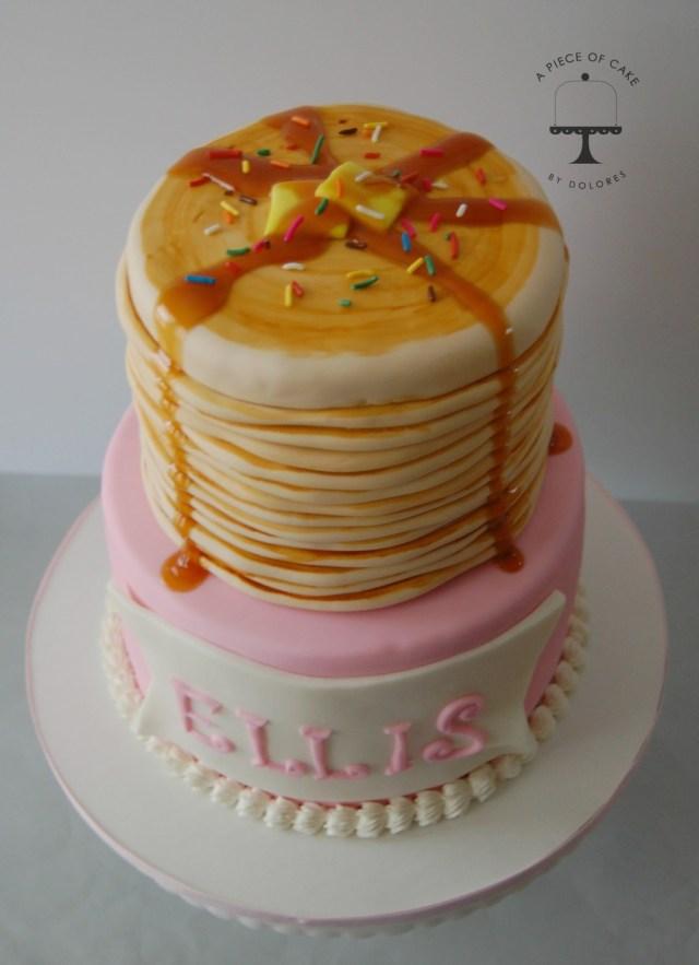 Pancake Birthday Cake Stack Of Pancakes Birthday Cake Cakecentral