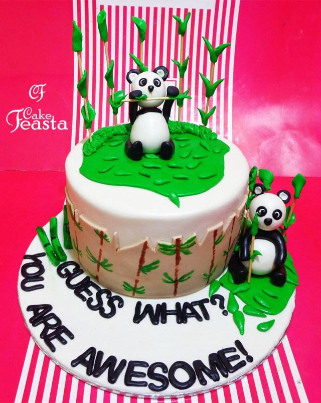 Panda Birthday Cake Panda Birthday Cake Customized Cakes In Lahore