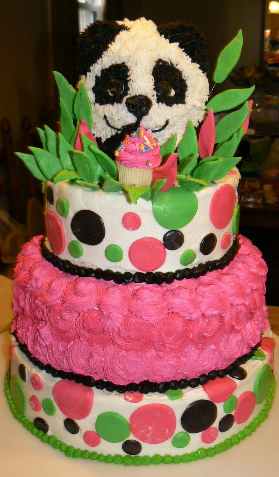 Panda Birthday Cake Teen Cakes Ocean Themed 12 Girls Kelly