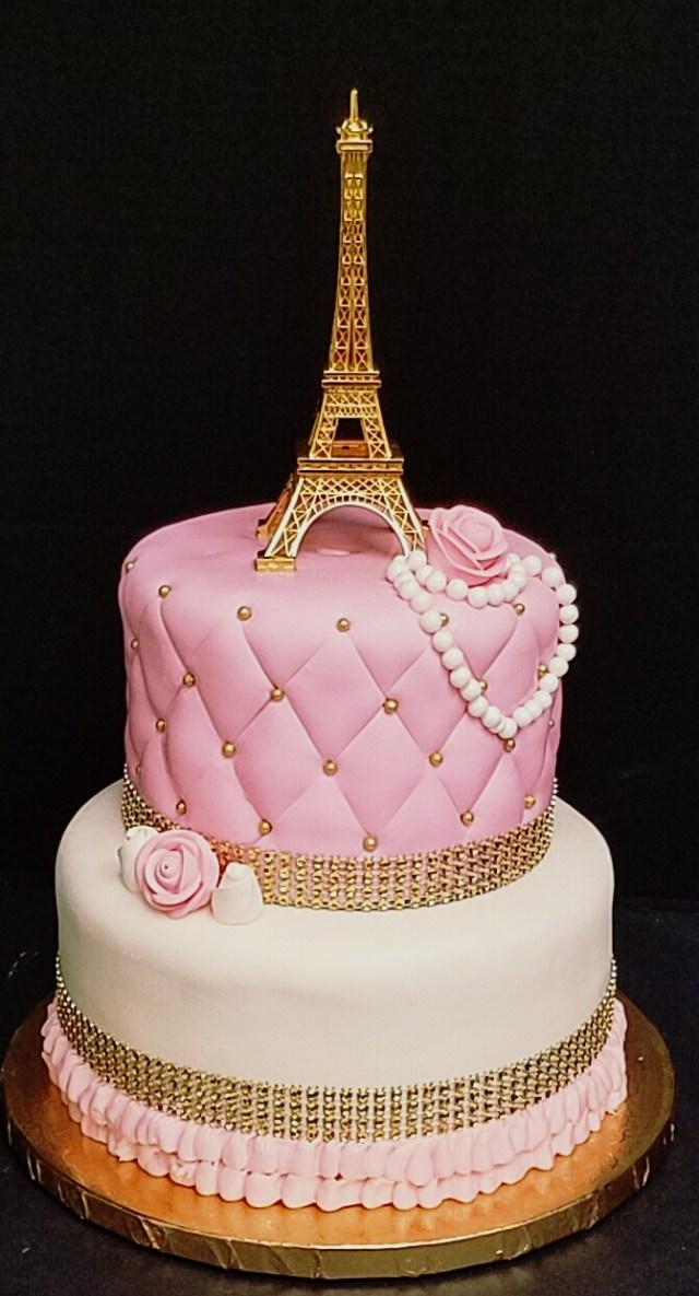 Paris Birthday Cake Paris Themed Cake