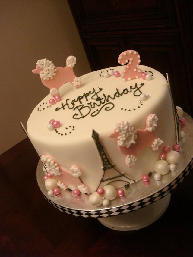 Paris Birthday Cake Pink Poodles In Paris Birthday Cake See More At Madelizas Flickr