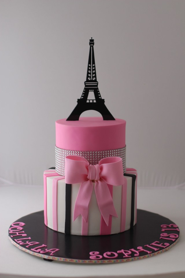 Paris Birthday Cakes Paris Themed Birthday Cake For A 13 Year Old Girl Thanks For Pinning