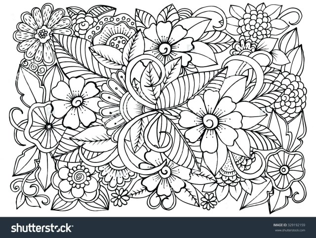 Pattern Coloring Pages Flower Pattern Coloring Pages
