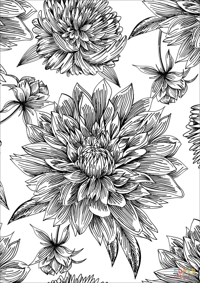 Pattern Coloring Pages Flowers Pattern Coloring Page Free Printable Coloring Pages
