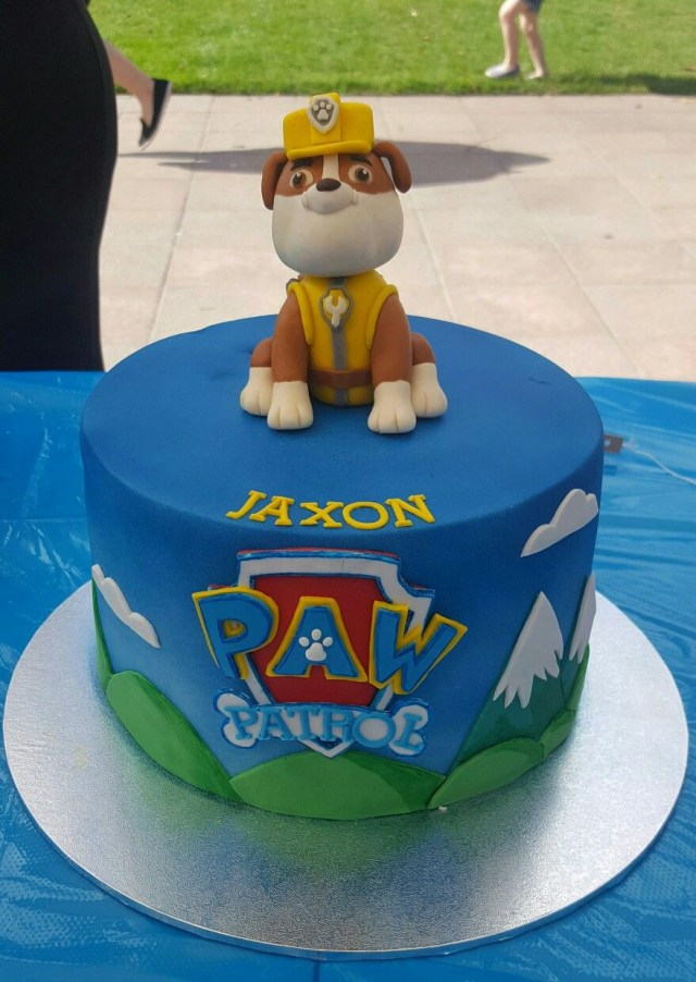 Paw Patrol Birthday Cake Toppers Paw Patrol Cake Rubble Cake Topper Rubble On The Double Paw