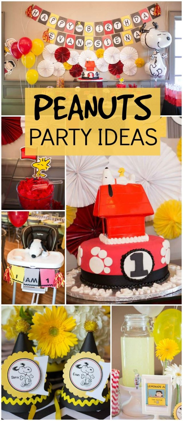 Peanuts Birthday Cake Snoopy Peanuts Birthday Our Twin Peanuts First Birthday Bash