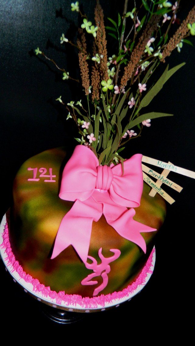 Pink Camo Birthday Cakes Pink Camo Birthday Cake My Creations Pinterest Pink Camo
