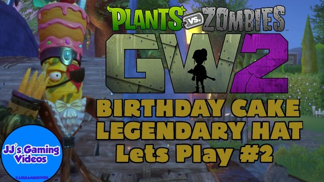Plants Vs Zombies Birthday Cake Birthday Cake Legendary Hat Plants Vs Zombies Garden Warfare 2