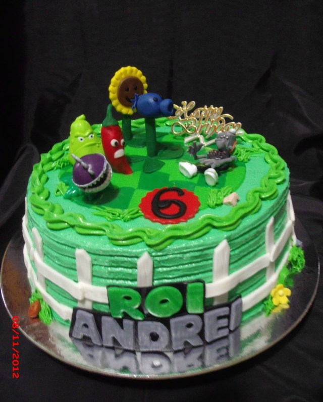Plants Vs Zombies Birthday Cake Plant Vs Zombies Bday Cake Cakecentral