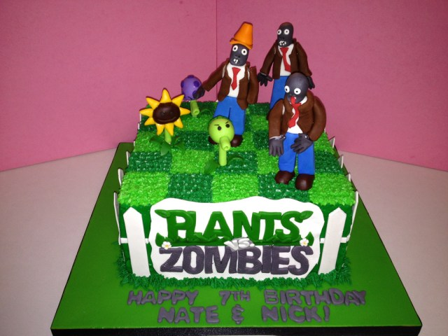Plants Vs Zombies Birthday Cake Plants Vs Zombies Birthday Cake 2 Buttercream Frosted Ca Flickr