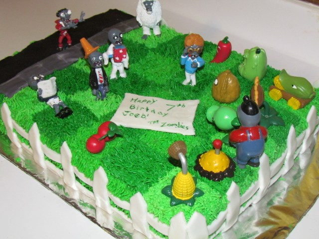 Plants Vs Zombies Birthday Cake Plants Vs Zombies Birthday Cake Cakecentral