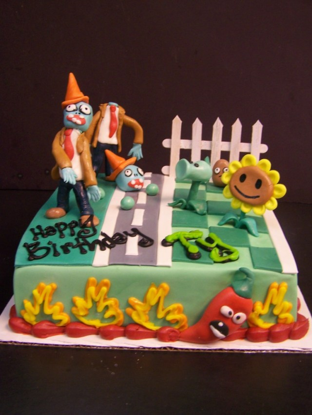 Plants Vs Zombies Birthday Cake Plants Vs Zombies Birthday Cake Le Bakery Sensual