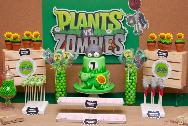 Plants Vs Zombies Birthday Cake Plants Vs Zombies Birthday Zoe Pea Sweets