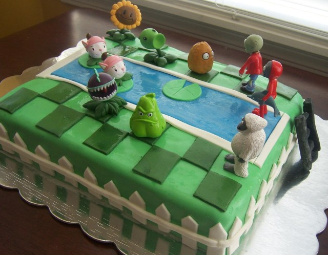 Plants Vs Zombies Birthday Cake Plants Vs Zombies Cake Sugar Shindigs