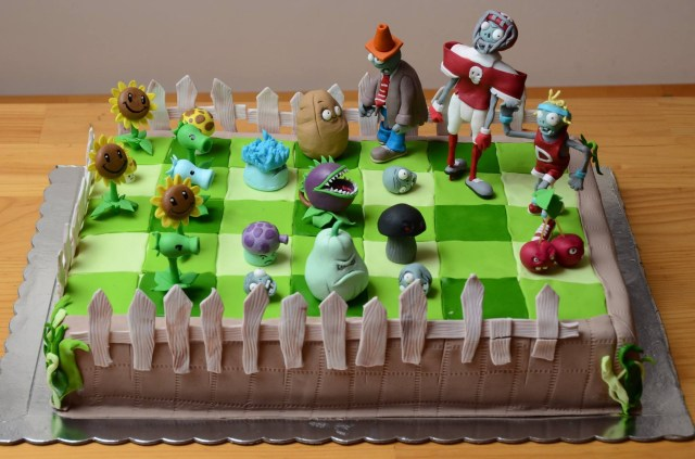 Plants Vs Zombies Birthday Cake Plants Vs Zombies Images Plants Vs Zombies Cake Hd Wallpaper And