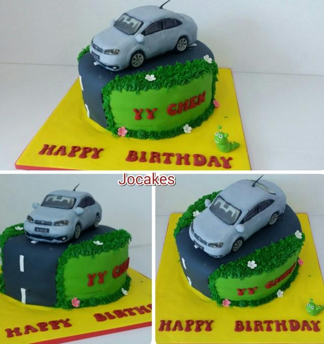 Polo Birthday Cake Volkswagon Polo Car Cake For Yy Chens Birthday Jocakes