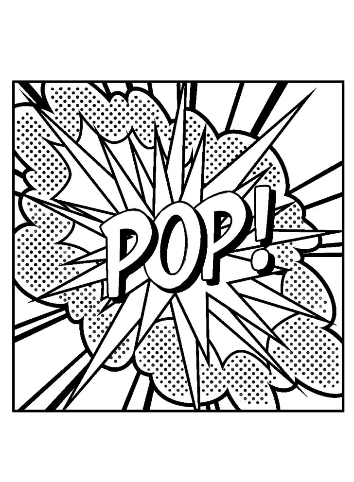 25+ Beautiful Image of Pop Art Coloring Pages