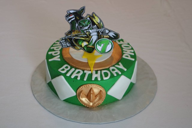 Power Ranger Birthday Cakes Green Power Ranger Birthday Cake Rexburg Cakes