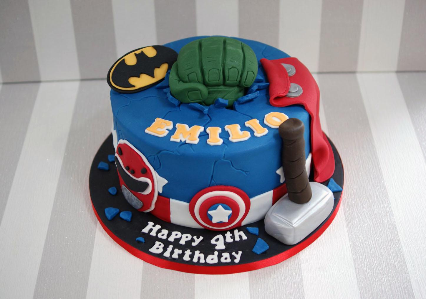 Power Ranger Birthday Cakes Power Rangers And Avengers Birthday Cake 1 Bakealous