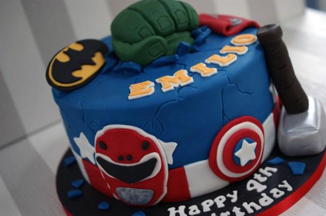 Power Rangers Birthday Cake Power Rangers Avengers Birthday Cake Bakealous