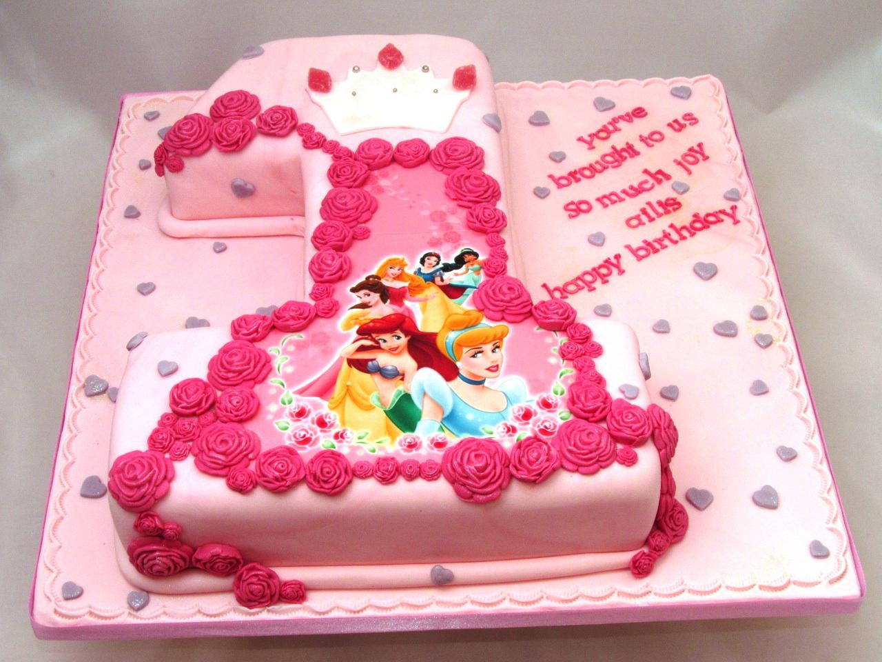 Princess 1St Birthday Cake Disney 1st Cakes Protoblogr Design