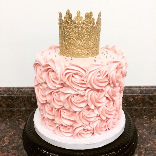 Princess 1St Birthday Cake Pink And Gold Princess First Birthday Smash Cake Camis Cake Co In