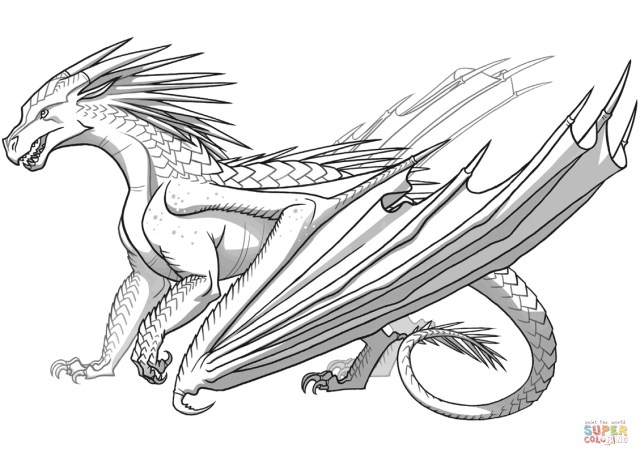 Printable Dragon Coloring Pages Icewing Dragon From Wings Of Fire Coloring Page Free Printable