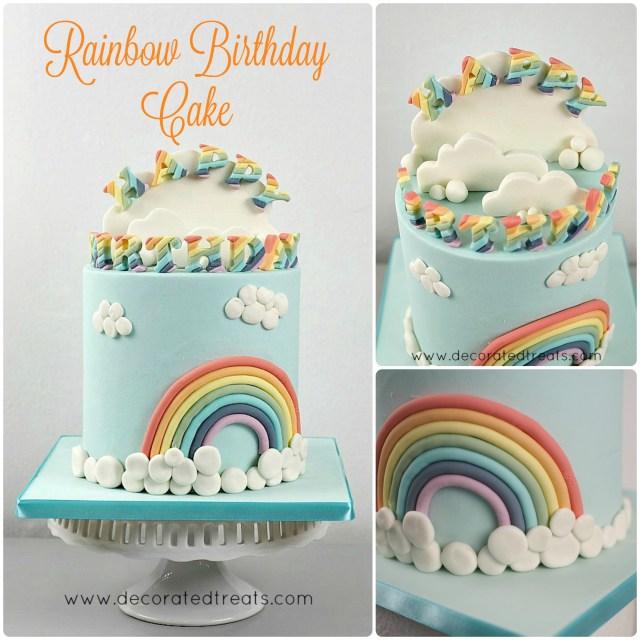 Rainbow Birthday Cake Rainbow Birthday Cake